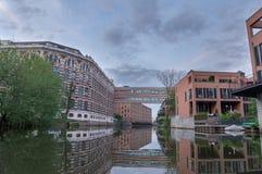 Nette Wohnungen in Leipzig Stockfotos