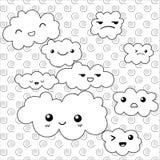 Nette Wolken, die Seite färben Stockfotos
