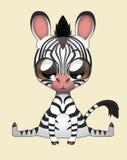 Nette Zebra-Vektor-Illustrations-Kunst Stockbilder