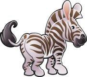 Nette Zebra-vektorabbildung Lizenzfreies Stockbild