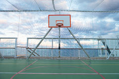 Netted Basketball Court Royalty Free Stock Photo