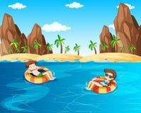 Netten Paar-Strand-Flitterwochen lizenzfreie abbildung