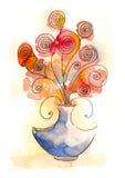 Netter abstrakter Blumenstrauß Lizenzfreie Stockbilder