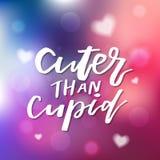 Netter als Amor - Kalligraphie für Einladung, Grußkarte, PR Stockfotos