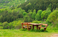 Netter Ansichtpicknickplatz Stockfoto