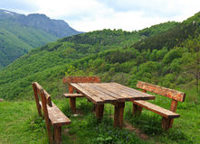 Netter Ansichtpicknickplatz Stockfotos