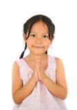 Netter asiatischer Mädchenlohngruß von Thailand Lizenzfreies Stockbild