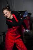 Netter Auto-Mechaniker Stockfoto