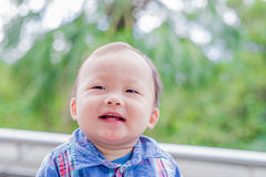Netter Babyblick irgendwo Lizenzfreie Stockfotografie