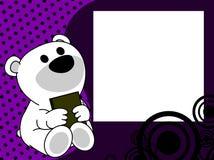 Netter Babyeisbärbuch-Bilderrahmenhintergrund Lizenzfreies Stockbild