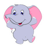 Netter Babyelefanttanz Stockbild