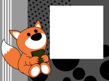 Netter Babyfuchsbuch-Bilderrahmenhintergrund Lizenzfreie Stockbilder