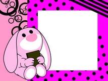 Netter Babyhäschenbuch-Bilderrahmenhintergrund Lizenzfreie Stockbilder