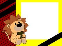 Netter Babylöwebuch-Bilderrahmenhintergrund Stockbild