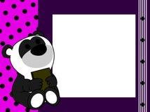 Netter Babypandabärn-Buch-Bilderrahmenhintergrund Lizenzfreies Stockbild