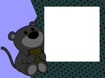 Netter Babypantherbuch-Bilderrahmenhintergrund Lizenzfreie Stockfotos