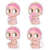 Netter Babysatz stock abbildung