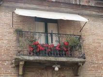 Netter Balkon Stockbild