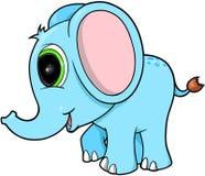 Netter blauer Elefant Stockbild
