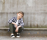 Netter blonder Junge Lizenzfreies Stockfoto
