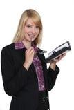 Netter blonder Sekretär Stockbilder