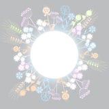 Netter Blumenhintergrund Lizenzfreie Abbildung
