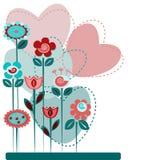 Netter Blumenhintergrund Stock Abbildung