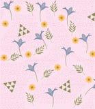 Netter Blumenmusterhintergrund Lizenzfreies Stockbild