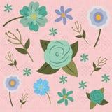 Netter Blumenmusterhintergrund Stockbilder