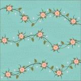 Netter Blumenmusterhintergrund Lizenzfreies Stockfoto