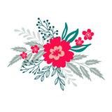 Netter Blumenstrauß der dekorativen Blume Stock Abbildung