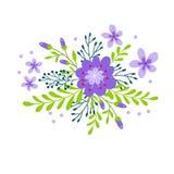 Netter Blumenstrauß der dekorativen Blume Lizenzfreie Abbildung