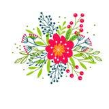 Netter Blumenstrauß der dekorativen Blume vektor abbildung