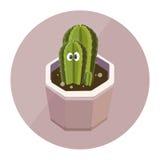 Netter Charakter des Kaktus Stockbilder