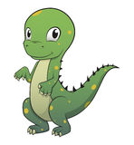 Netter Dinosauriervektorcharakter Stockfoto