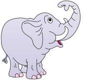 Netter Elefant, Kabel oben, Stockbild