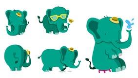 Netter Elefant-Satz Lizenzfreie Abbildung