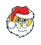 Netter erschrockener Santa Claus-smiley Stockfotografie