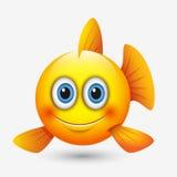 Netter Fische Emoticon, emoji - vector Illustration stock abbildung