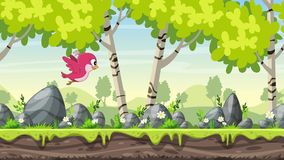Netter Fliegen-Karikatur-Vogel stock footage