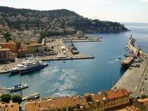 Netter (französischer Riviera-) Hafen Stockfotos
