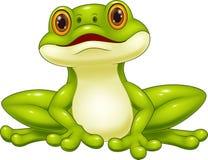 Netter Frosch der Karikatur Lizenzfreie Stockfotografie