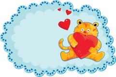 Netter gelber Tiger Stockfoto