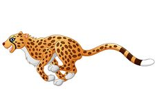 Netter Gepardbetrieb Stockbild