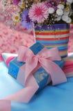 Netter Geschenkkasten Stockbild