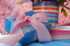 Netter Geschenkkasten Lizenzfreie Stockbilder