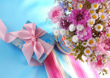 Netter Geschenkkasten Lizenzfreies Stockbild