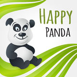 Netter glücklicher Pandacharakter Lizenzfreies Stockbild