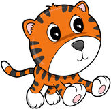 Netter glücklicher Tiger lizenzfreie abbildung
