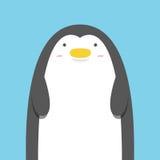 Netter großer fetter Pinguin Stockfotografie